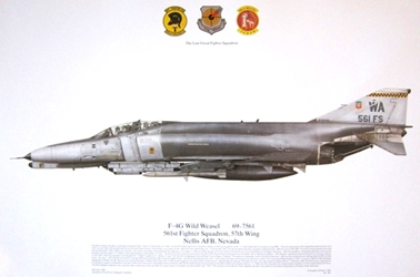 Color Print -561st FS 57th Wing Nellis AFB NV