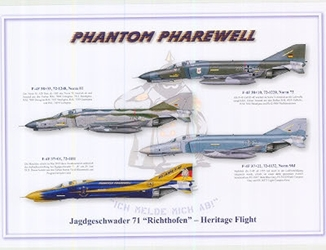 Color Print - GAF 71 Richthofen Heritage Flight Pharewell