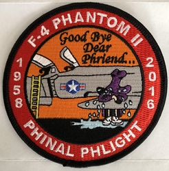 F-4 Phantom II Phinal Phlight Commemorative Patch