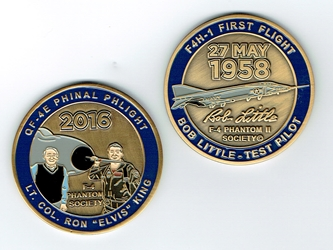 F-4 Phantom II Society Commemorative Challenge Coin