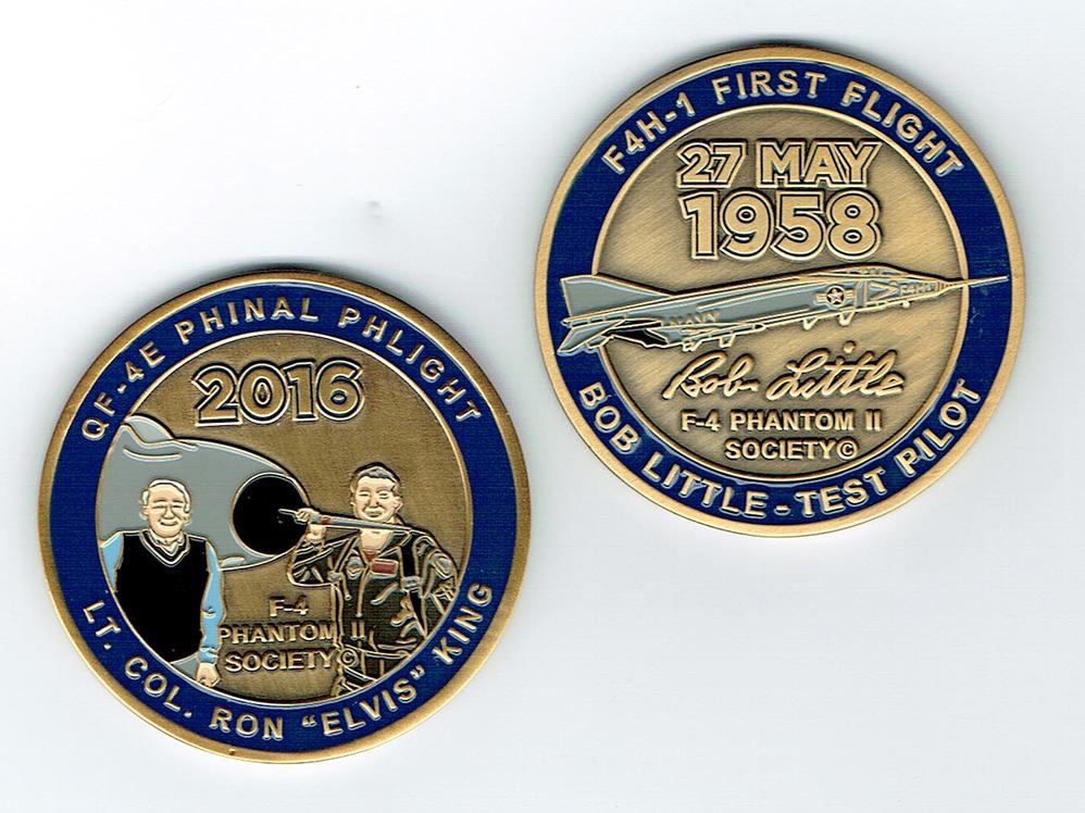 F 4 Phantom Ii Society Commemorative Challenge Coin