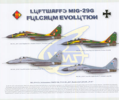 Color Print - LUFTWAFFE MIG-29 FULCRUM