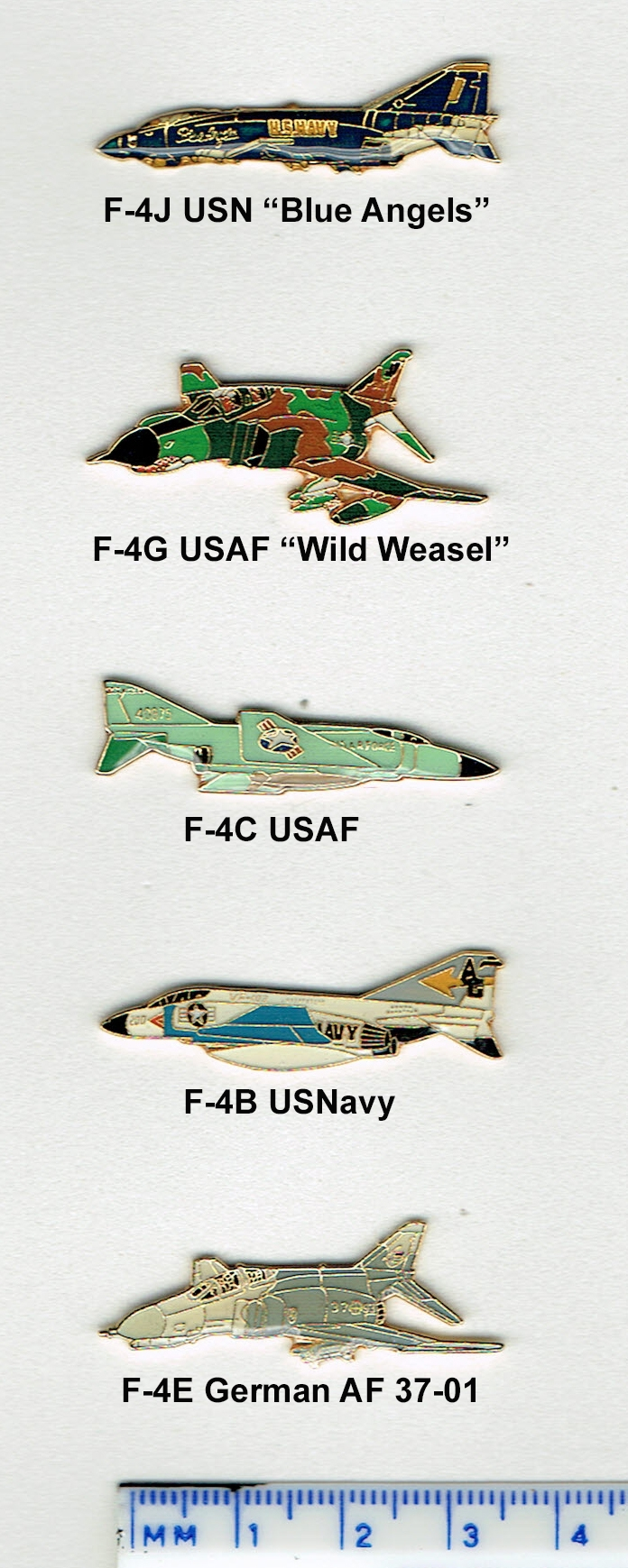 "F-4 ""Color Metal"" Lapel/Hat Pins"