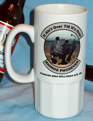 "Ceramic Beer Stein  20 FS ""It Aint Over Til Its Over"" PhanCon 2004"